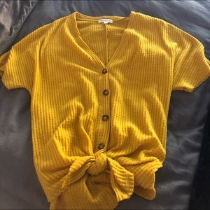 Socialite thermal tee- Mustard color. Never worn